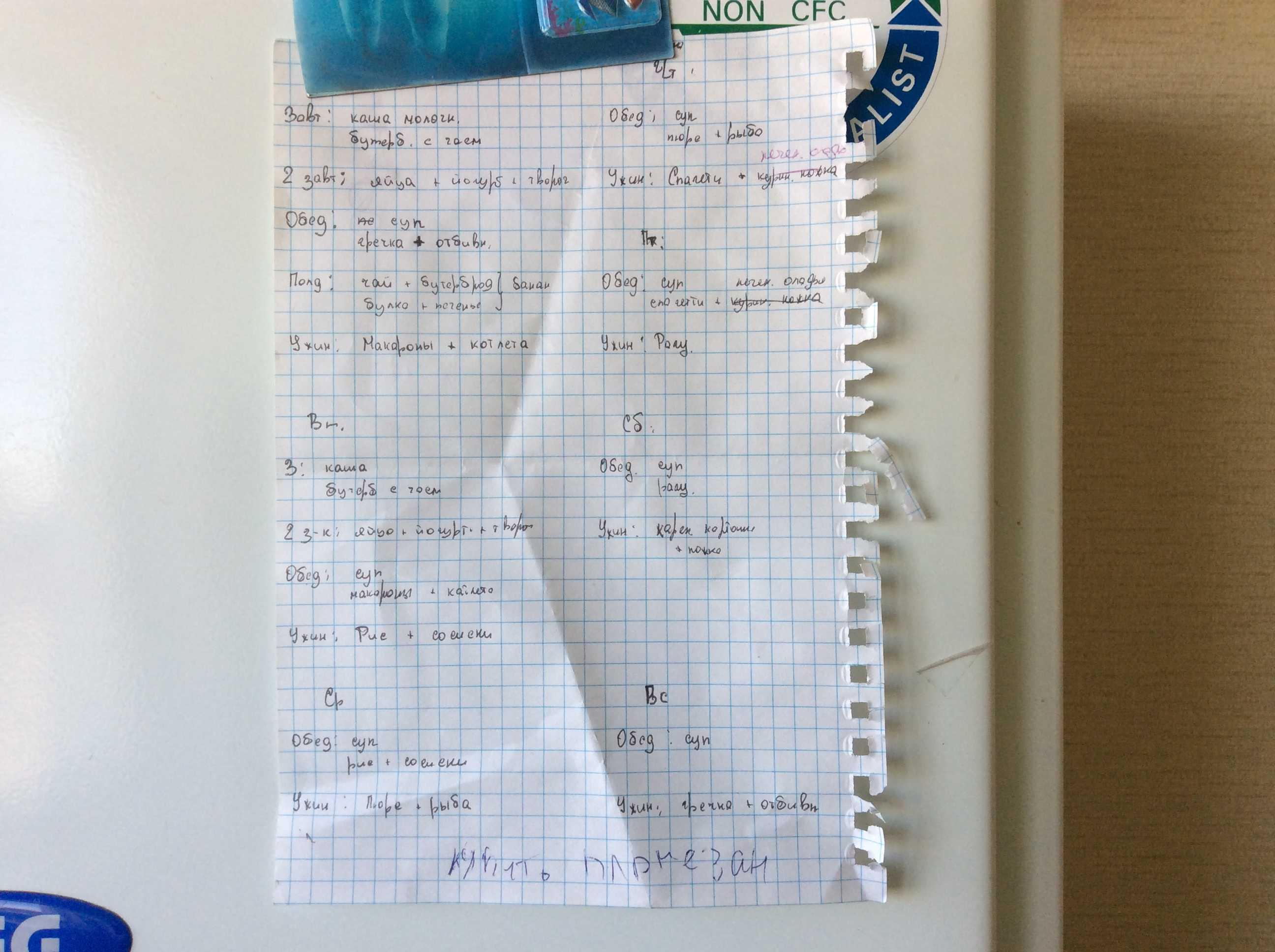 мой план питания