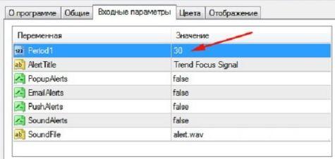 Описание индикатора для Форекс Focus Trend 1